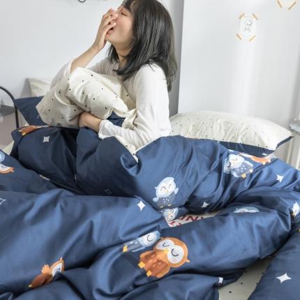 荣轩全棉13070纯棉卡通简约北欧多规格三件套四件套萌宠