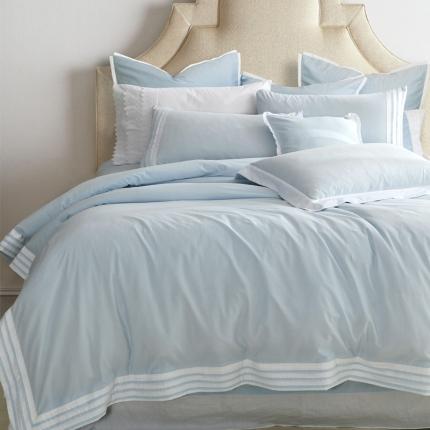 宅家居  全棉四件套茉琳卡系列淡蓝色