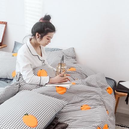 (总)宅家居 2019网红爆款INS简约全棉四件套 床单款