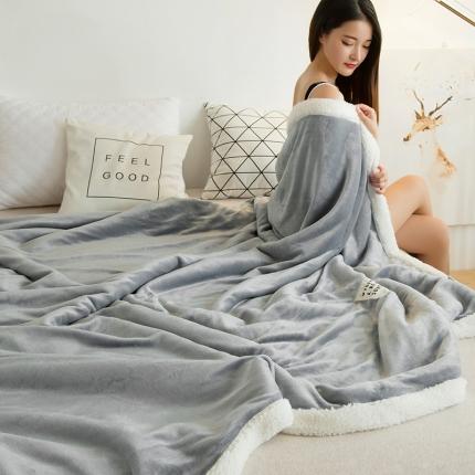 双层羊羔绒+法兰绒毯冬季加厚毛毯珊瑚绒毯保暖毯子空调毯午睡毯
