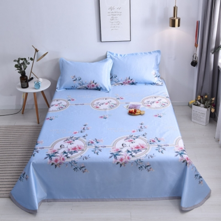 (总)KA家纺 2019可机洗床裙冰丝席三件套凉席三件套