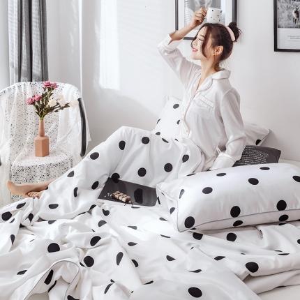 KA家纺 2019新款天丝夏被三件套 靓点白