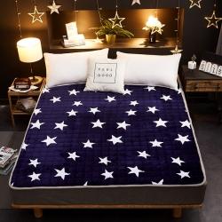 星菲家紡 2019新款法萊絨床墊床護墊 小星星