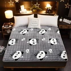 星菲家紡 2019新款法萊絨床墊床護墊 小熊貓