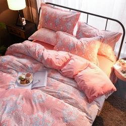 (总)夏之语&凯丽莎 5D雕花绒法莱绒水晶绒四件套