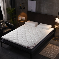 時奧家紡 高品質單邊款床墊 面包紋白色