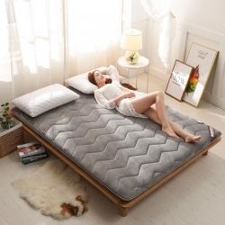 時奧家紡 法萊絨單邊床墊5厘米厚 灰