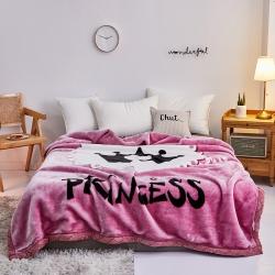 好藝佳 2019新款拉舍爾毛毯學生毯加厚雙層4斤–8斤女王