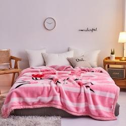 好藝佳 2019新款拉舍爾毛毯學生毯加厚雙層4斤–8斤乖乖兔