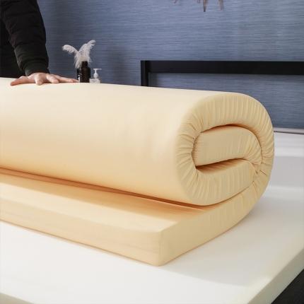 棕康垫业 2019新款磨毛布海绵床垫 素雅-黄色