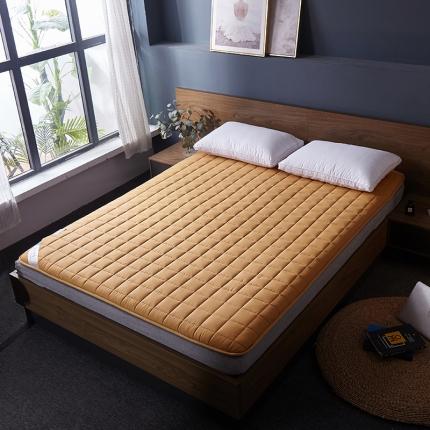 棕康垫业 2019新款全棉床褥方格系列 方格-驼色