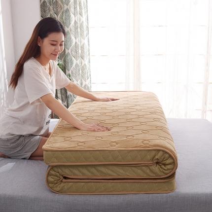 棕康垫业 2019新款法兰绒乳胶床垫 甜馨黄
