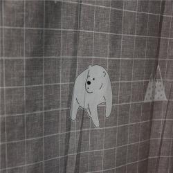 融一平紋磨毛水洗印花 5