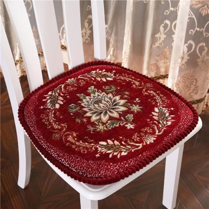 (总)哈创家居 餐椅垫镜面昙花系列