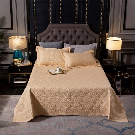 哈创家居 全棉床盖三件套组1 驼色