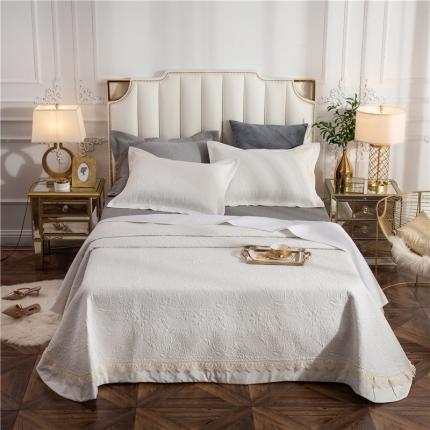 哈创家居 全棉床盖三件套组2 白色