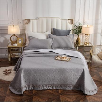哈创家居 全棉床盖三件套组2 灰色
