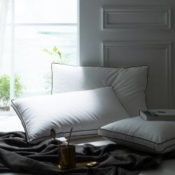 富乐屋家纺 2019新款立体式酒店枕芯单个 白色