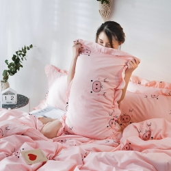 (總)萬盛2019新款13372噴氣面料全棉單品枕套一對