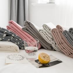 (总)陌本  2019新款色织水洗棉单品 床单