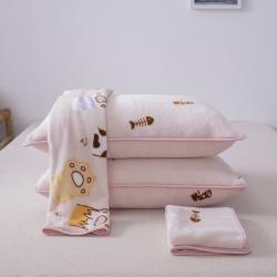 愛思凱 2019新款250克牛奶絨枕套 場景二 小肉墊-粉