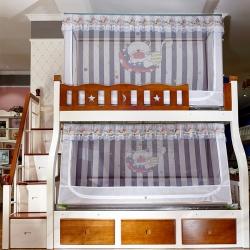 (總)迪凡保羅 5806數碼印花子母床拉鏈蚊帳(不銹鋼支架)