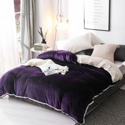 春妮家纺 法兰绒多功能两用毛毯被套 洋紫