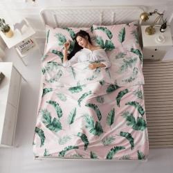 飞缘家纺 60贡缎长绒棉隔脏睡袋 绚烂色彩