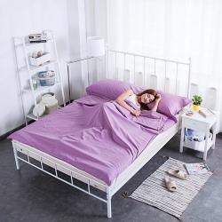 飞缘家纺 纯色旅行隔脏睡袋 淡紫色