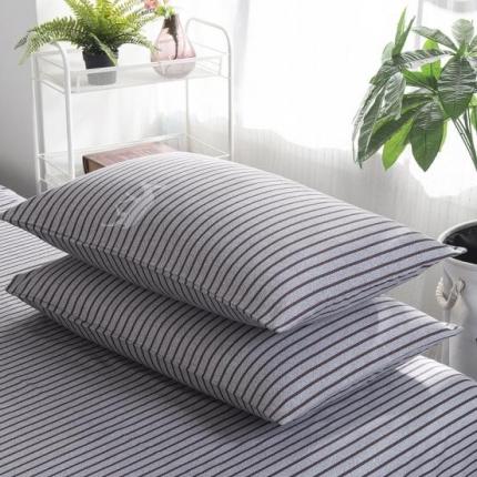 套莊 纯棉40支12868全棉印花枕套一对塔希里亚-咖