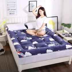 富百世 加厚床垫床褥床双人褥子学生宿舍海绵床垫垫被 蓝天白云