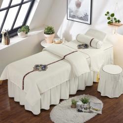 依然佳 2019新款美容床罩四件套小鸟依人系列 白色