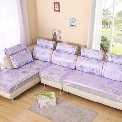 燕卡家纺 2019新款冰丝枫叶沙发垫 紫色