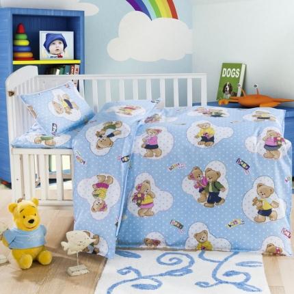吉咪兔家纺 12868小版花型六件套 泰迪小熊-兰