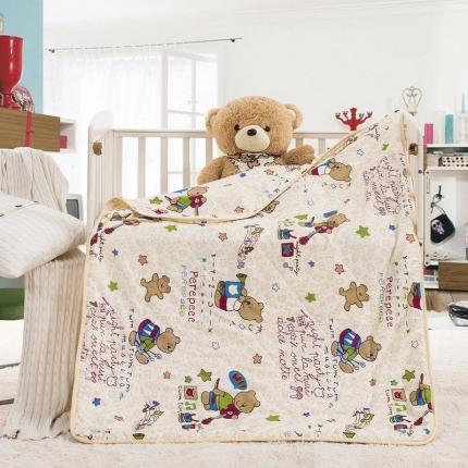 吉咪兔家纺 12868小版花型夏被空调被音乐小熊