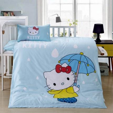 吉咪兔 13372大版全棉幼儿园儿童含芯六件套多件套雨中凯特