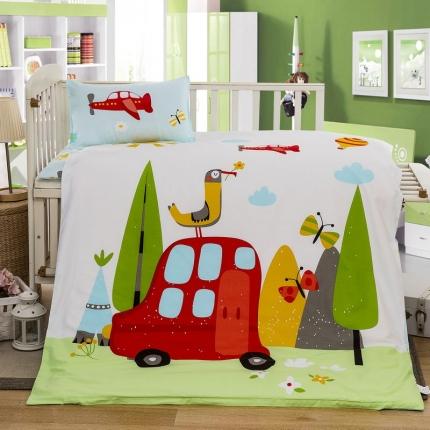 吉咪兔 13372大版全棉幼儿园儿童含芯六件套多件套阳光乐园