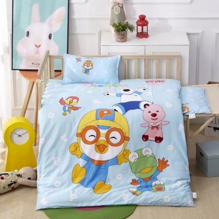 吉咪兔 13372大版全棉幼儿园儿童含芯六件套多件套 一起玩