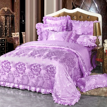 小时代家纺韩版提花床单床盖四件六件套花之物语