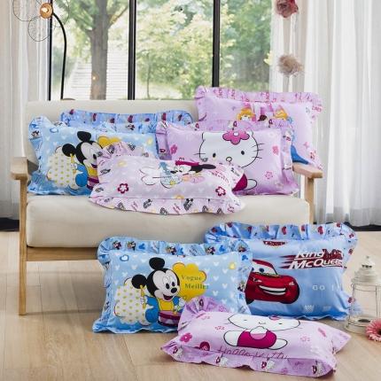 (总)吉咪兔家纺 儿童枕套花边款
