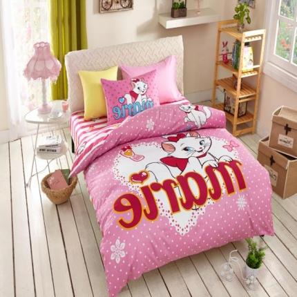 (总)迪士尼家居 全棉活性印花三件套床笠款