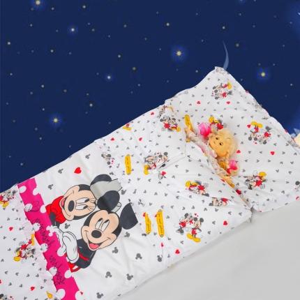 迪士尼家居 全棉活性印花可脱卸睡袋3777牵手