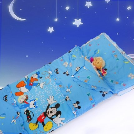 迪士尼家居 全棉活性印花可脱卸睡袋3797睁眼