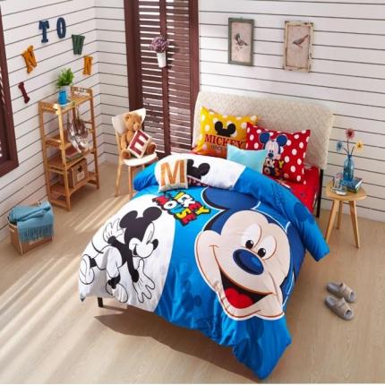 迪士尼家居 全棉活性印花宽幅四件套床单款782