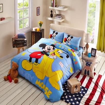 迪士尼家居 全棉活性印花宽幅四件套床单款4075