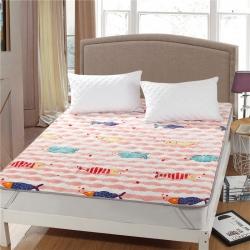 水晶宝宝绒床垫防滑保暖床褥床护垫可机洗软垫薄垫榻榻米年年有鱼