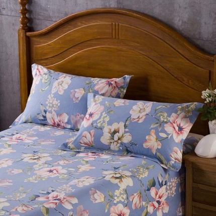 艾羽家纺 全棉高级磨毛澳棉系列单品枕套 如梦花期