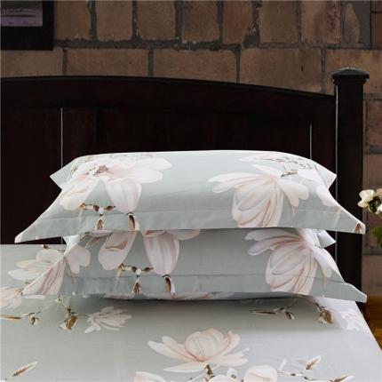 艾羽家纺 全棉高级磨毛澳棉系列单品枕套 微澜花开