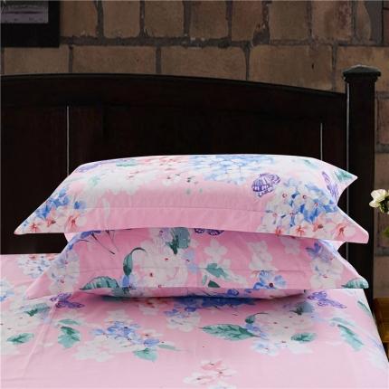 艾羽家纺 全棉高级磨毛澳棉系列单品枕套 拉菲庄园粉