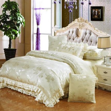 小时代家纺欧式婚庆件床盖四件套六件套迷人花香
